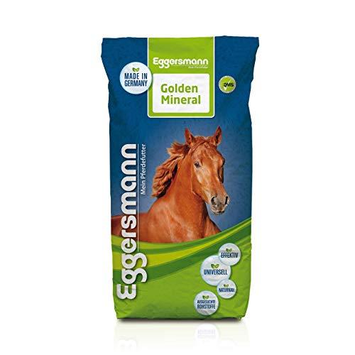 Eggersmann Golden Mineral - Mineralfuttermittel für Pferde und Ponys - Zur Ergänzung des Grundfutters - 25 kg Sack