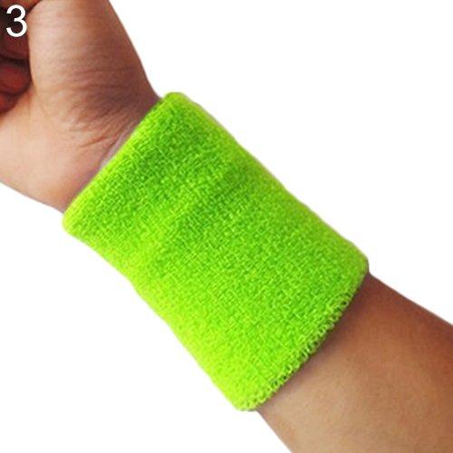 XMxDESiZ1x Sport Handgelenk Schweißband Tennis Squash Badminton Gym Basketball Armband Geschenk - fluoreszierend grün (Grün Nike Damen-tennis-schuhe)
