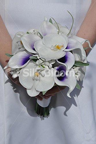 neve-colore-bianco-orchidea-phalaenopsis-calla-lily-wedding-bouquet-da-damigella-donore