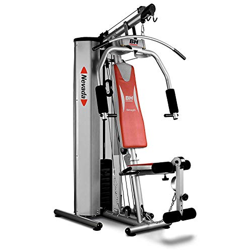 BH Fitness NEVADA PRO, TITANIUM G119AT multistation / fitnessstation / kompaktes Design / klappbarer Sitz / maximale Sicherheit