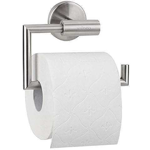 VALNEO Design Toilettenpapier-Halter aus Edelstahl, gebürstete Oberfläche | 2 Jahre Zufriedenheitsgarantie | Toilettenpapier-Rollenhalter, WC-Papierrollenhalter, Klopapierhalter, Klorollenhalter, matt