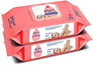 Johnson's Baby SKIN CARE Wipes With Lid Combo Offer Pack, 2 x 80s (160 wi