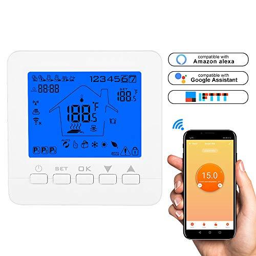 Konesky WiFi Smart Thermostat Programmierbarer Thermostat APP TUYA Controller für elektrische Wasser-Gas-Boiler Fußbodenheizung Arbeiten mit Alexa Google Home -