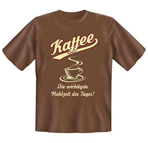 cooles, witziges und tolles Motiv und Sprüche T-Shirt -Set : Kaffee Die wichtigste Mahlzeit des Tages! Braun