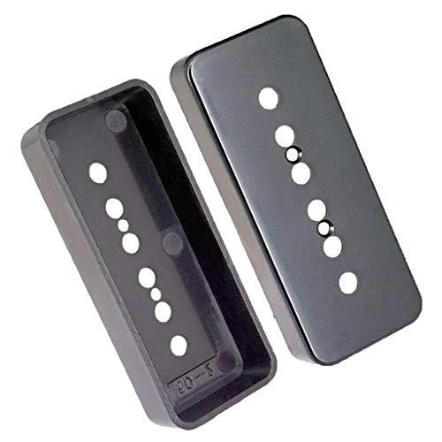 hwarz) Humbucker Pickup Cover Abdeckung aus Messing 6 Loch für P90 Pickup Parts E-Gitarre Ersatzteil - Schwarz 52mm ()