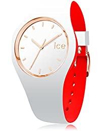 ICE-Watch - 007240 - Loulou White Rose-Gold - Montre Femme - Cadran Blanc - Bracelet Silicone Blanc