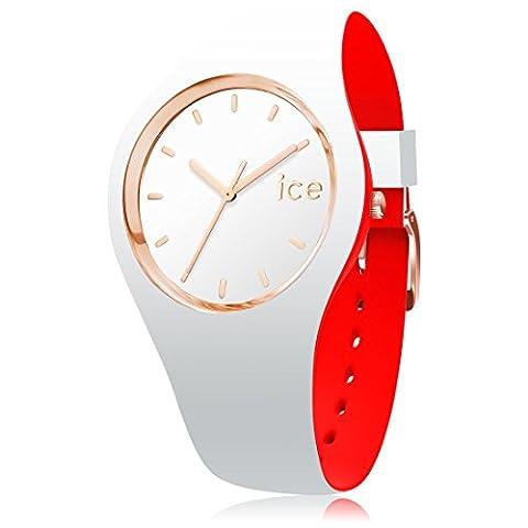ICE-Watch - 007240 - Loulou - Montre Homme - Chronomètre - Cadran Blanc - Bracelet Silicone Blanc