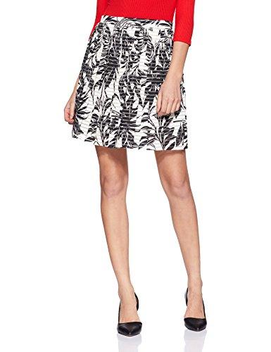 VERO MODA Damen 10128518 Rock, Weiß (Snow White), 38 (Herstellergröße: M) (Frauen Für Kleidung Forever 21,)