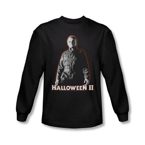 Halloween II - Halloween II - Herren Michael Myers Langarm-Shirt In Schwarz Schwarz - Schwarz