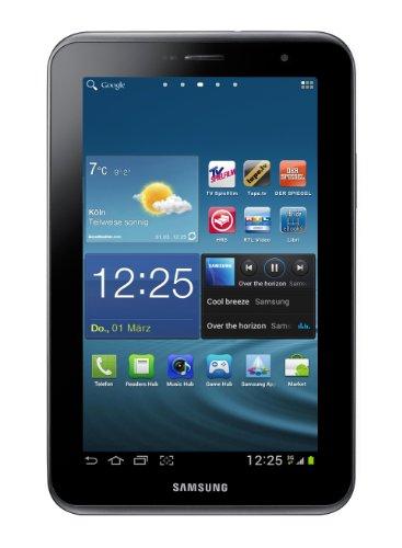 Samsung Galaxy Tab 2 P3100 3G+WIFI Tablet (17,8 cm (7 Zoll) Display, 1GHz Prozessor, 1GB RAM, 16 GB Speicher, 3,2 Megapixel Kamera, Android) titanium-silber - Samsung Tablet 2012