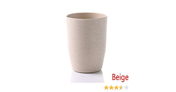 Timegoing Porte-Brosse /à Dents Cup Gobelet Rond pour Laver gobelet et Tumbler Salle de Bain Beige