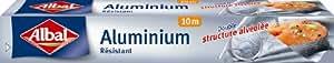 Albal Rouleau Aluminium, Facile à Découper, Résistant, 10 m, Lot de 3