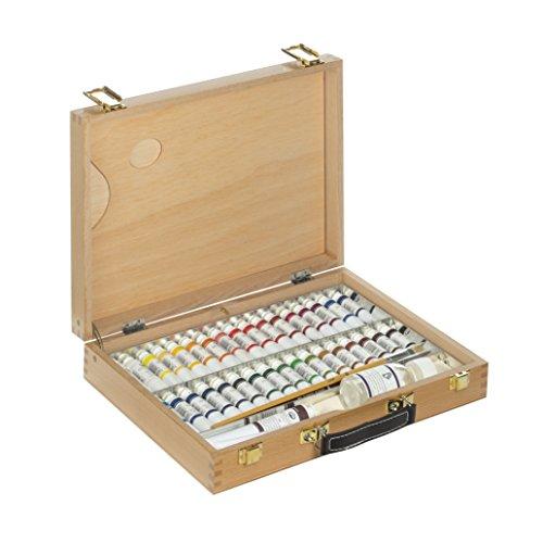 lienzos-levante-1310301410-boite-peinture-en-sapelli-4-s-serie-professionnelle-avec-assortiment-de-p