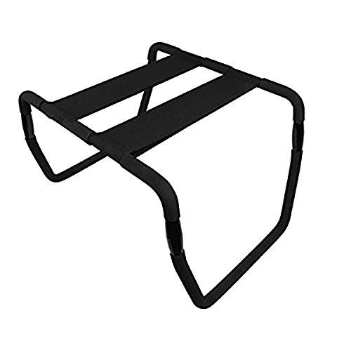 Qbuds Multifunction Chaise Pliante réglable Portable élastique Chaise Chaise Meubles de Salle de Bain, Chambre à Coucher (Black-Upgraded) Amour Chaise Chaise de Sports Home Gym Outil
