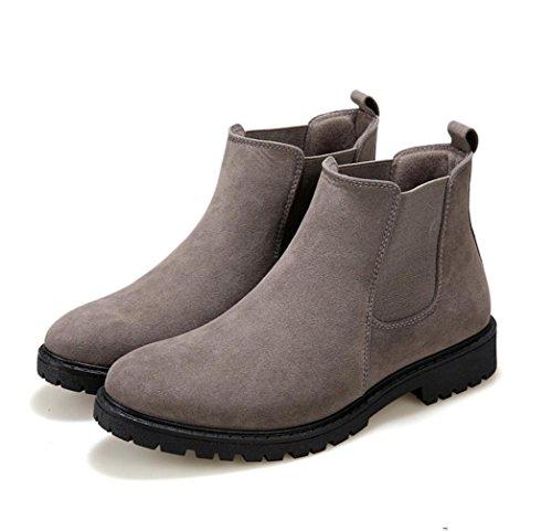 WZGNew England Herbst und Winter Herren Komfort Martin Stiefel männliche Aufladungen Art und Weise High-Top-Stiefel Stiefel koreanische Version gray