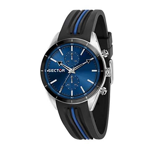 Sector 9 Hommes Analogique Quartz Montre avec Bracelet en Silicone R3251516004