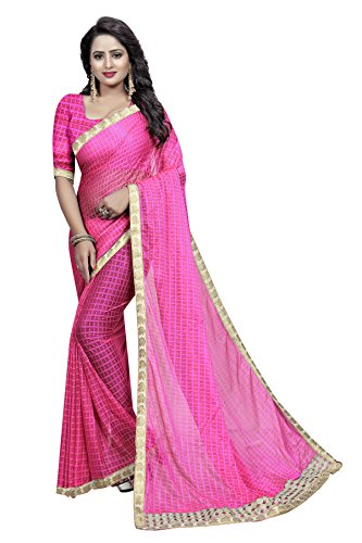 TRYme Fashion Women's Silk Georgette Party Wear Saree With Blouse Piece (Baby...
