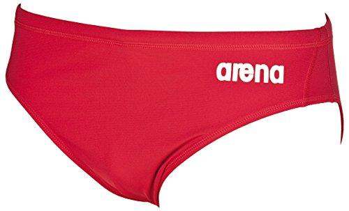 Arena Herren Solid Slip rot - rot / weiß