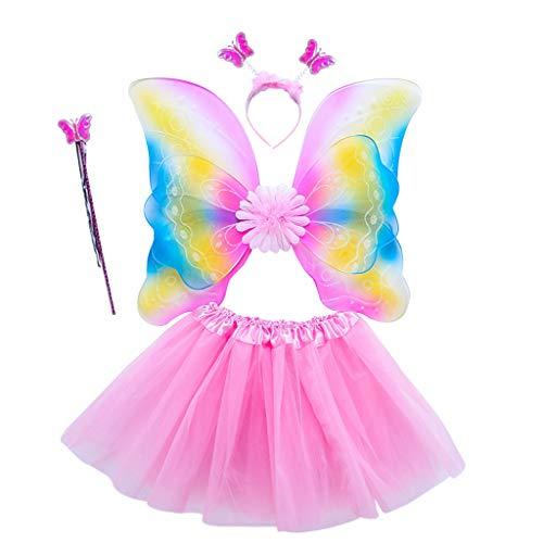 only y Kostüm Fee Schmetterling Doppelschicht aus Tüll Mädchen Damen - Flügel Kostüm Prinzessin Kleid Schmetterling Cosplay für Karneval Kostüm Zubehör 4