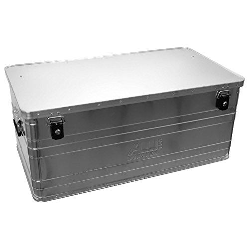 Caja de aluminio Alutec 2031140B140con cerradura cilíndrica, 900mm x 490mm x 380mm