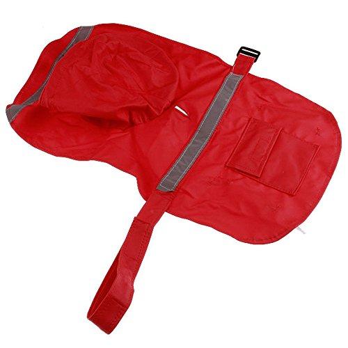 mit Kapuze Regenmantel Haustier Hund Kleidung (XS, Rot) ()