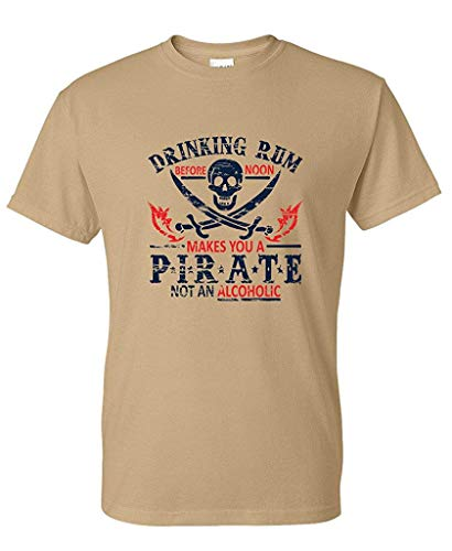 4700b401d0757 RUAN HOME Rum Noon Pirate Novelty Sarcastic Drinking Funny T Shirt by