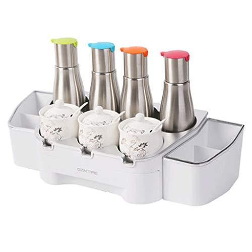 Küche Gewürz Box Set/Haushalt Salz Salz Sojasauce Flasche/Lagerregal/Schrank/Geschirr/Geschirr Desktop/Regal / (Color : C) (Baby Regal Flasche)