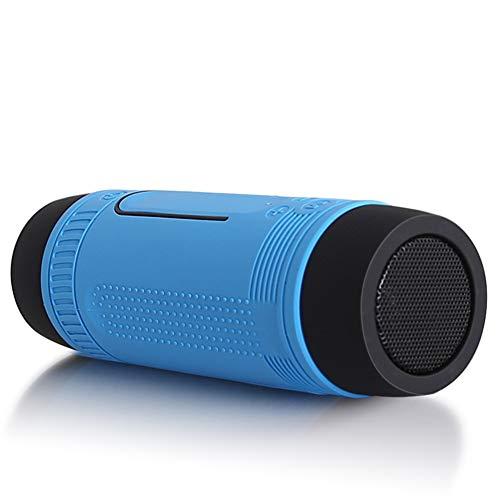 MINBAO Wasserdichte tragbare Taschenlampen-Bluetooth-Lautsprecher im Freien, der drahtlosen Bluetooth-Karten-Sprecher reitet (Mp3-player Leistungsstarke)
