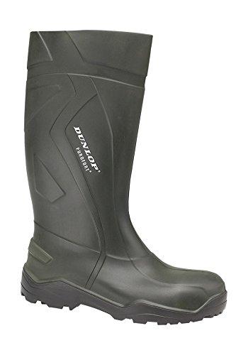 Botas Profesionales Dunlop Purofort + Verde Oscuro / Negro, Sin Puntera De Acero - D760933 Verde