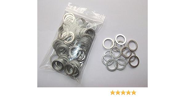 100 Stück Aluminiumringe Dichtringe Aluringe 16x22x1 5 Mm Din 7603 Auto