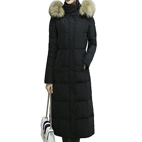 Oangel Long manteau/doudoune/parka d'hiver pour femmes en duvet avec capuche