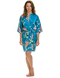 07bf7bcea1 Lovekimono Women s Short Suki Silky Feel Satin Kimono Dressing Gown