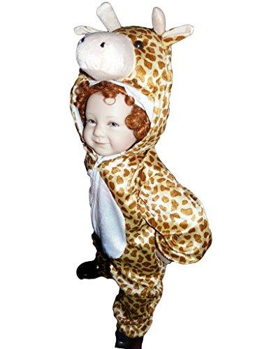 J24 Größe 86-92 Giraffe Kostüm für Babies und Kleinkinder, bequem über normale Kleidung zu (Baby Kostüm Giraffen)