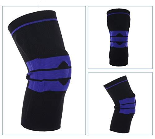 1 Stk Kneepad for fette Person S-5XL Plus Size Basketball Unterstützung Silikon Padded Knieschoner Unterstützung Klammer Patella-Schutz-Schutz-Knie-Auflage ( Color : Black , Size : XXL 48cm to 54cm )