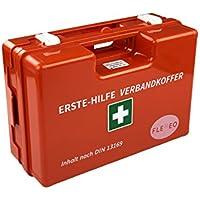 Erste-Hilfe-Koffer für Betriebe DIN 13169 in orange, Verbandkasten gefüllt und mit Wandhalterung preisvergleich bei billige-tabletten.eu