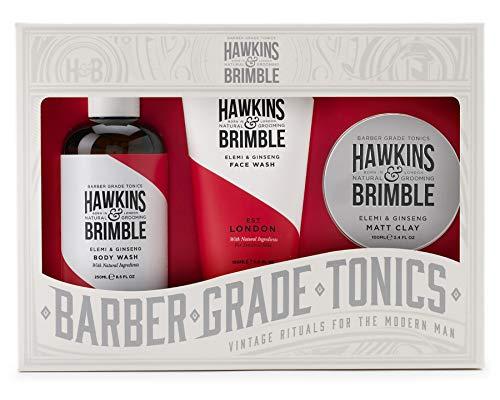 Hawkins & Brimble Haarwäsche, Körperwäsche und Matt-Ton, Geschenkset