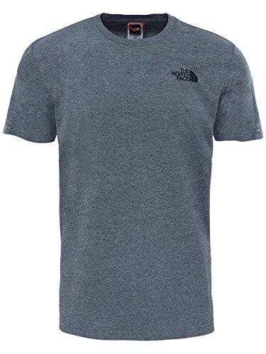 The North Face Herren T-Shirt M S/S Red Box tnfmediumgreyheather(std)