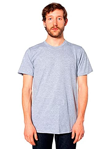 American Apparel Men's Unisex Fine Jersey Short-Sleeve T-Shirt - gray -