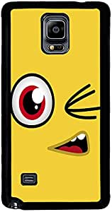 PrintVisa 2D-SGN4-D7735 Cartoon yellow Smiley Case Cover for Samsung Galaxy Note 4