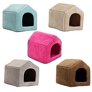 PAWZ Road Niche Maison Coussin Douillette pour Chien Chat Animal de compagnie Fashion 5 Couleurs 3 Tailles
