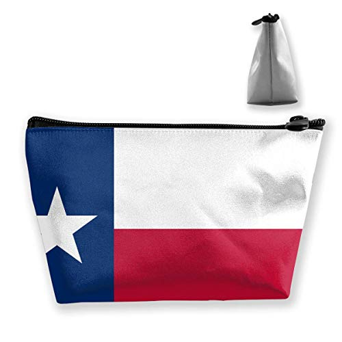 Travel Cosmetic Bag Flag of Texas Tragbare Trapez Make-up Tasche Mäppchen Clutch Bag (Leuchten Texas)