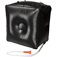QWL Bolsa de Ducha de calefacción Solar al Aire Libre 40L, Bolsa de Agua de PVC para Camping con calefacción Solar Plegable, Negro