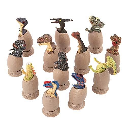 Jamicy Dinosaurier Modelle Spielzeug, 12PC Pädagogisches Simuliertes Dinosaurier-Modell Kinder Kinder Spielzeug Dinosaurier Geschenk,für Jurassic World Park