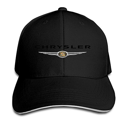 xcarmen-runy-chrysler-logo-adjustable-hunting-peak-sandwich-hat-cap-black