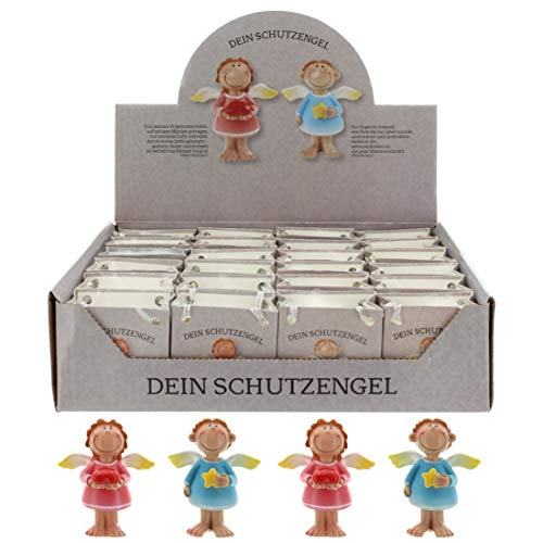 MIK Funshopping Schutzengel in Tüte 2-Fach Sortiert, 24er Display, Glücksbringer (Mehrfarbig)