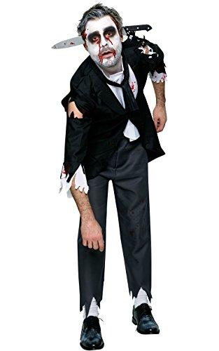Amazon Kostüm Butler (Rubie 's 810503Rubie 's Offizielles Bloody Butler Zombie Halloween Kostüm für Erwachsene)