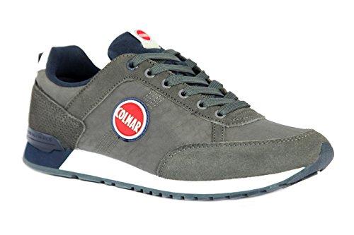 Colmar Travis Colors 016 Sneakers Lacci Uomo Tessuto Pelle Gray Navy Grigio 2018