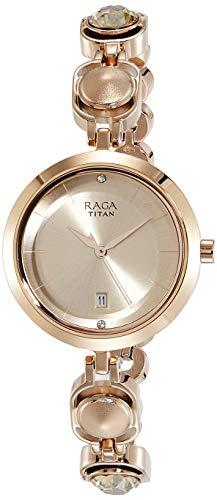 3. Titan Raga Viva Analog Rose Gold Dial Women's Watch