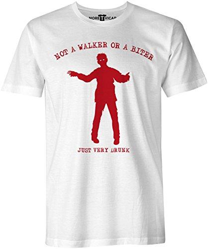 Just Very Drunk T Shirt - Herren Walking Dead T Shirt Weiß