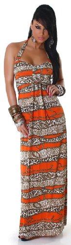 Graffith dos extra-longue pour femme avec motif multicolore taille unique (convient du 34 au 40) Orange - Orange